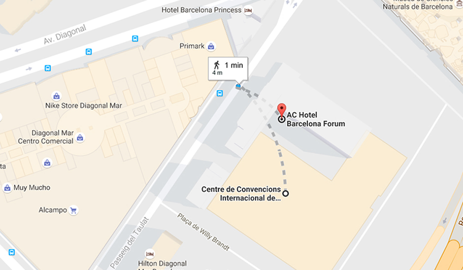 The Hotel Is 500 M From Maresme Metro Station Here You Can Reach Peig De Gràcia In Central Barcelona 15 Minutes Airport 19 Km